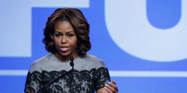 WASHINGTON, DC - MARCH 14:  U.S. first lady Michelle Obama speaks during the 'Building a Healthier Future Summit' of the Part