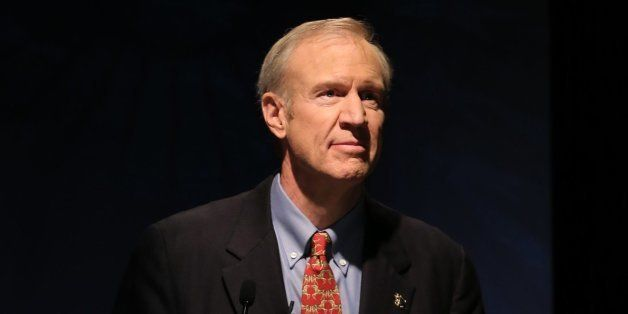 Bruce Rauner, a Republican candidate for governor of Illinois, speaks at a public form at the University of Chicago on Tuesda