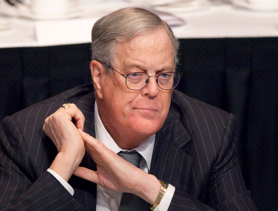 FILE - In this April 11, 2011 file photo, David Koch, executive vice president of Koch Industries, attends a meeting of the E