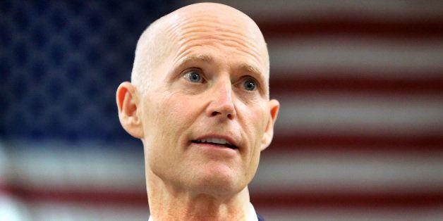 Florida Gov. Rick Scott delivers remarks at .decimal, Inc. (pronounced 'dot-decimal') during a visit to the medical device ma