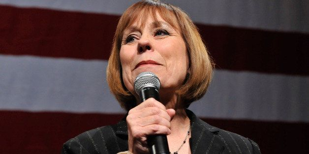 LAS VEGAS - NOVEMBER 03:  U.S. Senate candidate Sharron Angle concedes defeat to supporters at the Nevada Republican Party's