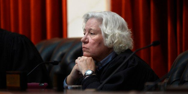 Denver, CO. - January 23: The Colorado Supreme Court Justice Nancy E. Rice hears arguments in the new court room for the firs