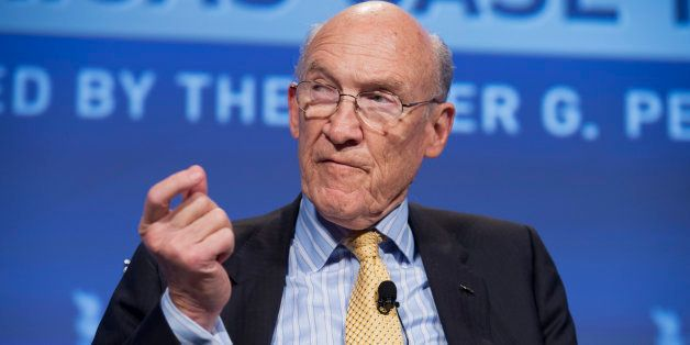 UNITED STATES - MAY 15:  Former Sen. Alan Simpson, R-Wyo., speaks at the Peter G. Peterson Foundation's 2012 Fiscal Summit he