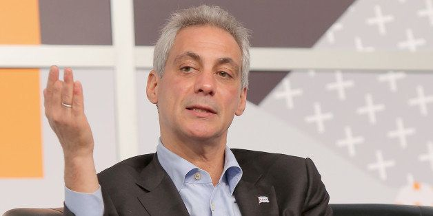 AUSTIN, TX - MARCH 11:  Chicago Mayor Rahm Emanuel speaks onstage at SXSW Conversation: Rahm Emanuel & Michelle T. Boone duri