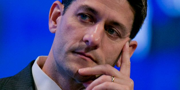 Representative Paul Ryan, a Republican from Wisconsin and chairman of the House Budget Committee, listens during the 2013 Fis