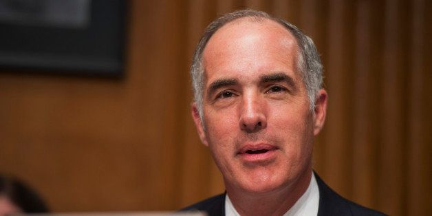 UNITED STATES - JULY 24: Sen. Bob Casey, D-Pa., makes a statement during Joint Economic Committee hearing in Dirksen Building