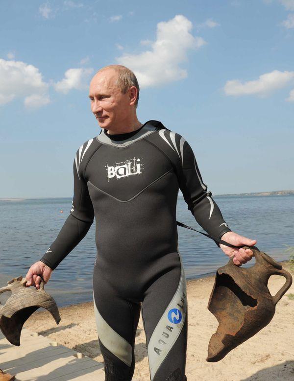 El buceo deportivo es otra de las aficiones de Vladimir Putin. Foto del 2011.