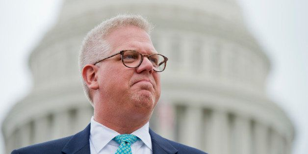 UNITED STATES - JUNE 19: Conservative talk show host Glenn Beck attends a Tea Party Patriots rally on the west front of the C