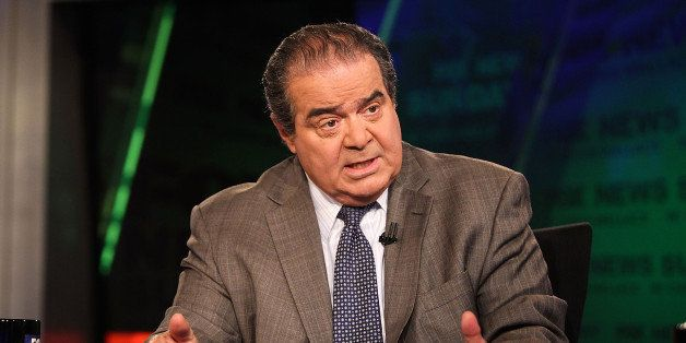 WASHINGTON, DC - JULY 27:  U.S. Supreme Court Justice Antonin Scalia takes part in an interview with Chris Wallace on  'FOX N