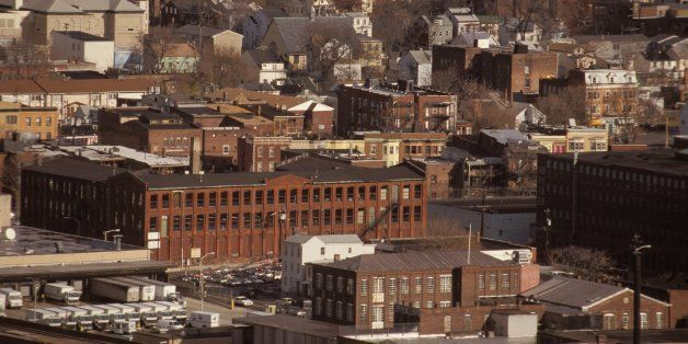 New Jersey, Paterson, Older Factories And Homes In Lower Middle Class Region. (Photo by Jeffrey Greenberg/UIG via Getty Image