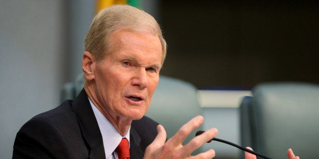 MIAMI BEACH, FL - APRIL 22:  U.S. Sen. Bill Nelson (D-FL) speaks as he chairs a hearing entitled, 'Leading the Way: Adapting