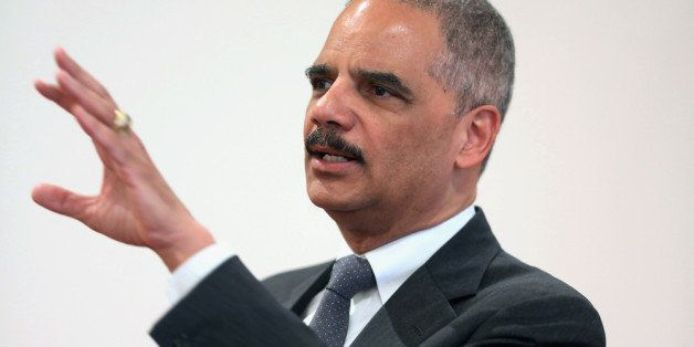 WASHINGTON, DC - APRIL 16:  United States Attorney General Eric Holder addresses the Police Executive Research Forum's Nation
