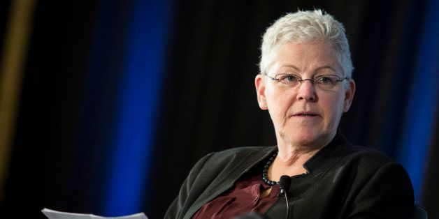 WASHINGTON, DC - APRIL 7:  EPA Administrator Gina McCarthy listens during a keynote panel on reducing greenhouse gases at the
