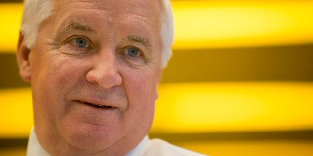 Tom Corbett, governor of Pennsylvania, speaks during an interview in New York, U.S., on Thursday, Dec. 6, 2012. Corbett inten
