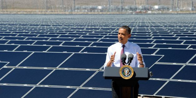 BOULDER CITY, NV - MARCH 21:  U.S. President Barack Obama speaks at Sempra U.S. Gas & Power's Copper Mountain Solar 1 facilit