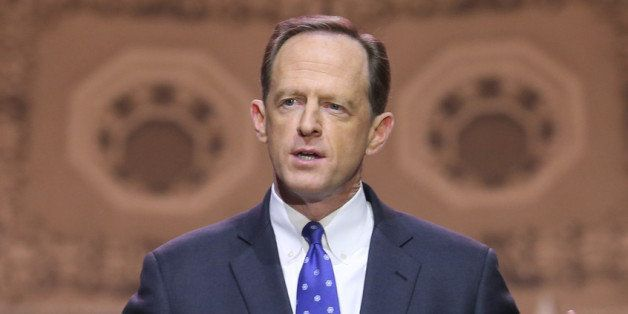 NATIONAL HARBOR, MD - MARCH 06: Sen. Pat Toomey (R-PA) speaks at the CPAC Conference, on March 6, 2014 in National Harbor, Ma