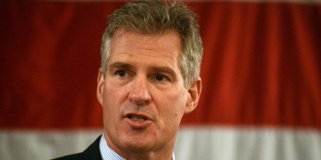 PORTSMOUTH, NH - APRIL 10:  Scott Brown formally announces his candidacy for U.S. Senate April 10, 2014 at Sheraton Portsmout