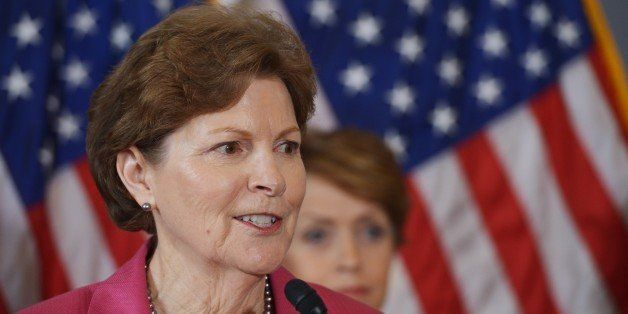 Senator Jeanne Shaheen, D-NH, speaks during a press conference calling for the creation of an independent military justice sy