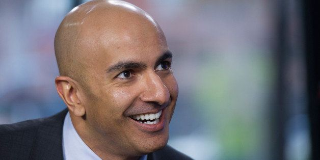 California Republican gubernatorial candidate Neel Kashkari smiles prior to a Bloomberg West Television interview in San Fran