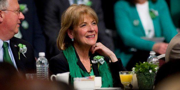 BOSTON - MARCH 16: State Attorney General Martha Coakley attended the breakfast. Senator Linda Dorcena Forry, not pictured, w
