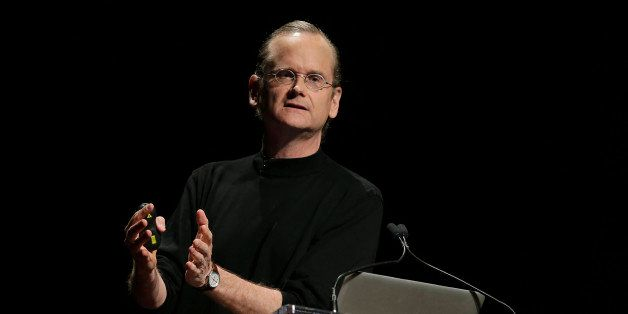 Lawrence Lessig, professor at Harvard Law School, speaks during the 2014 WIRED Business Conference (BizCon) in New York, U.S.