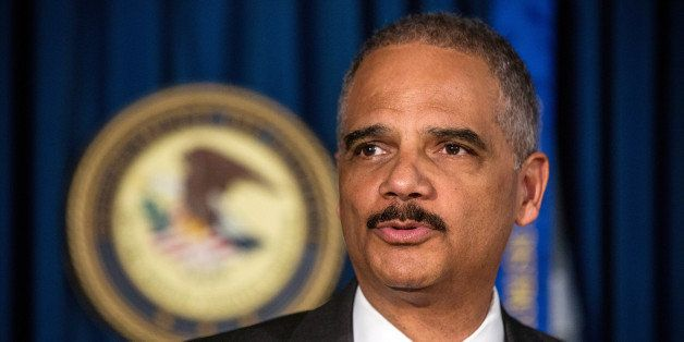 NEW YORK, NY - APRIL 01:  U.S. Attorney General Eric Holder speaks at a press conference at the U.S. Attorney's Office for th