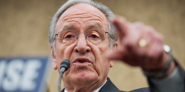 UNITED STATES - APRIL 03: Sen. Tom Harkin, D-Iowa, speaks at an event in the Capitol Visitor Center to call on the minimum wa