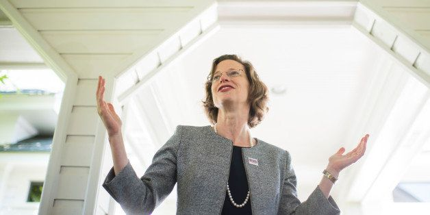 UNITED STATES - APRIL 16: Candidate for U.S. Senate Michelle Nunn speaks to attendees at her meet and greet event in Shellman