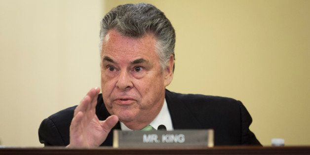 WASHINGTON, DC - APRIL 9:  Rep. Peter King (R-NY) questions the witnesses during a House Homeland Security Committee hearing
