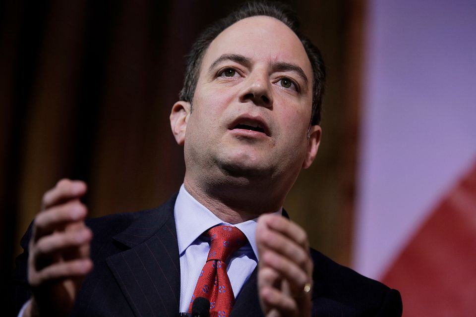 NATIONAL HARBOR, MD - MARCH 08:  Reince Priebus, chairman of the Republican National Committee, speaks on a panel during the