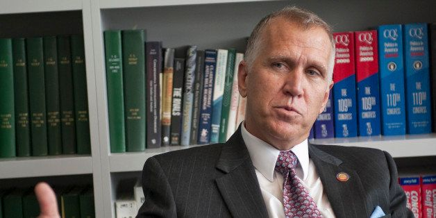 UNITED STATES - Sept 24: Thom Tillis (R) North Carolina during an interview at Roll Call in Washington, D.C.   (Photo By Doug