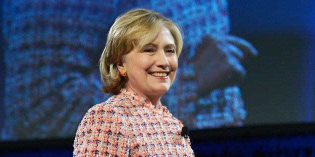 BOSTON, MA - APRIL 23:  Hillary Clinton delivers the Keynote Address at the 35th Annual Simmons Leadership Conference at Simm