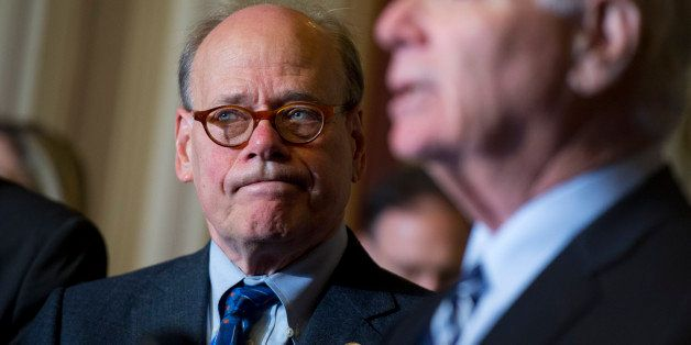 UNITED STATES - MAY 6: Rep. Steve Cohen, D-Tenn., left, and Sen. Ben Cardin, D-Md., attend a new conference with members of t