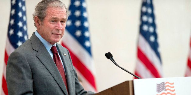 DALLAS, TX - JULY 10:  Former President George W. Bush speaks during Naturalization Ceremony at the George W. Bush Presidenti