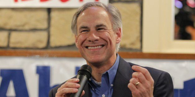 Greg Abbott, candidate for governor of Texas, speaks in Fort Worth, Texas, on Thursday, Feb. 27, 2014. Abbott met with local