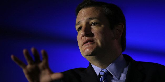 NEW ORLEANS, LA - MAY 31: U.S. Senator Ted Cruz (R-TX) speaks during the final day of the 2014 Republican Leadership Conference on May 31, 2014 in New Orleans, Louisiana. Leaders of the Republican Party spoke at the 2014 Republican Leadership Conference which hosted 1,500 delegates from across the country. (Photo by Justin Sullivan/Getty Images)