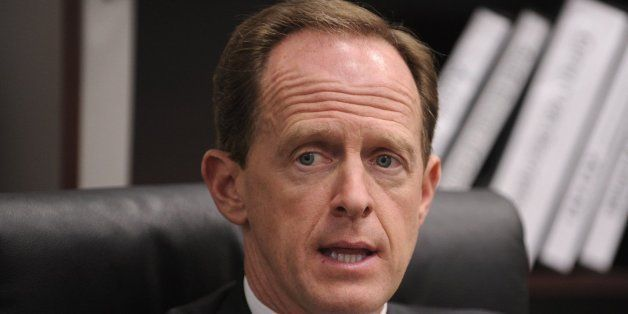 U.S. Senator Pat Toomey (R-PA), seen May 28, 2013 in State College, Penn., is carving out a reputation as a steady-as-he-goes