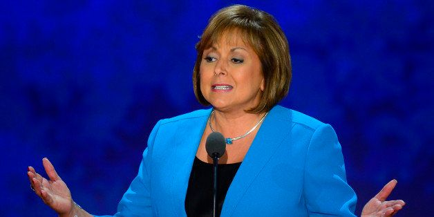 New Mexico Governor Gov. Susana Martinez speaks to the delegation at the Republican National Convention in Tampa, Florida, We