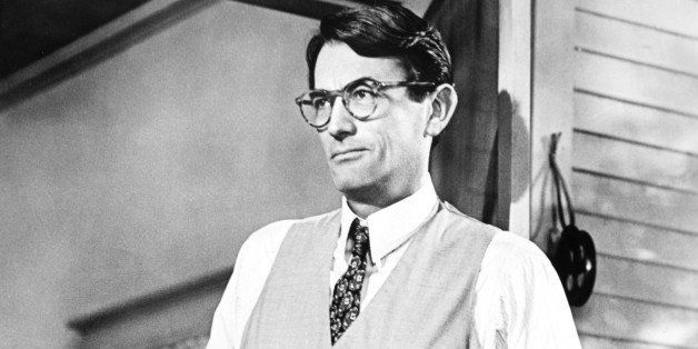 American actor Gregory Peck (1916 - 2003) stars as lawyer Atticus Finch in the film 'To Kill a Mockingbird', directed by Robe