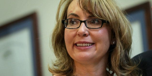 WASHINGTON, DC - MAY 01:  Former U.S. Rep. Gabby Giffords (D-AZ) attends a meeting with lawmakers May 1, 2014 on Capitol Hill