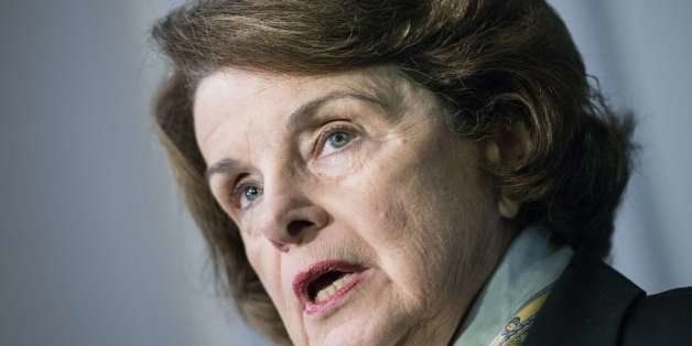 Senator Dianne Feinstein D-CA speaks to the media after a closed meeting of the Senate Intelligence Committee on Capitol Hill