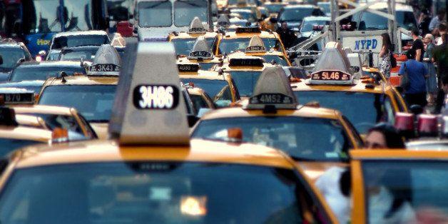 "Times Square traffic jam in New York City  <a href=""http://www.joiseyshowaa.com"" rel=""nofollow"">www.joiseyshowaa.com</a>"