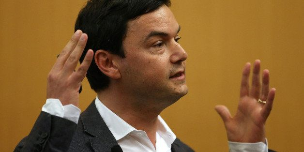BERKELEY, CA - APRIL 23:  Economist and author Thomas Piketty speaks to the Department of Economics at the University of Cali