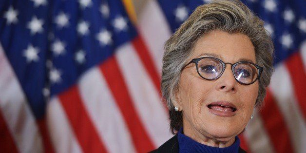 Senator Barbara Boxer, D-CA, speaks during a press conference calling for the creation of an independent military justice system for deal with sexual harassment and assault in the military, in the Russell Senate Office Building on Capitol Hill in Washington, DC on February 6, 2014. AFP PHOTO/Mandel NGAN (Photo credit should read MANDEL NGAN/AFP/Getty Images)