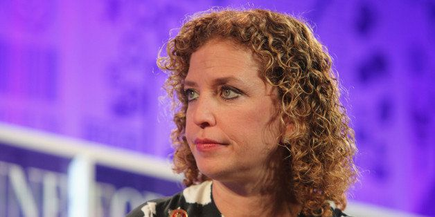 WASHINGTON, DC - OCTOBER 16:  Debbie Wasserman Schultz speaks onstage at the FORTUNE Most Powerful Women Summit on October 16