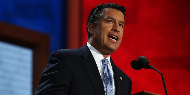 TAMPA, FL - AUGUST 28:  Nevada Gov. Brian Sandoval speaks during the Republican National Convention at the Tampa Bay Times Fo