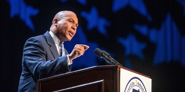 LOWELL, MA - JULY 13: Governor Deval Patrick speaks during the 2013 Massachusetts Democratic Party Platform Convention held a