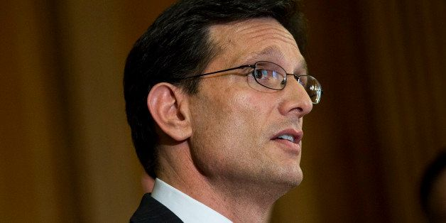 WASHINGTON, DC - MAY 7: House Majority Leader Rep. Eric Cantor (R-VA) speaks during a news conference about  the Success and
