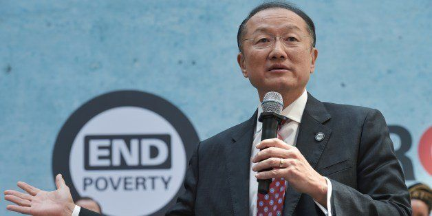 World Bank President Jim Yong Kim speaks during an event calling for action to end poverty by 2030 in the World Bank Headquar