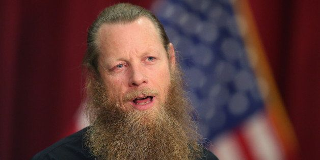 BOISE, ID - JUNE 01:  Bob Bergdahl speaks about the release of his son Sgt. Bowe Bergdahl during a press conference at Gouen